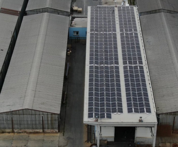 93 kWp rooftop PV plant is an effective and efficient use of the roof space of the factory